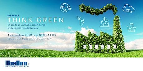 Think Green: prospettiva sempre più verde per l'industria manufatturiera biglietti