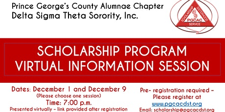 PGCAC Scholarship Informational Session tickets