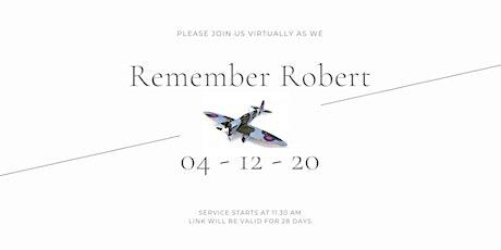 Robert's virtual funeral service tickets