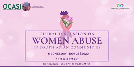 Global Discussion on Women Abuse in South Asian Communities tickets