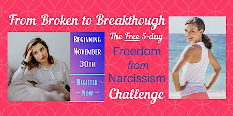 The Free 5 Day Freedom from Narcissism Challenge tickets
