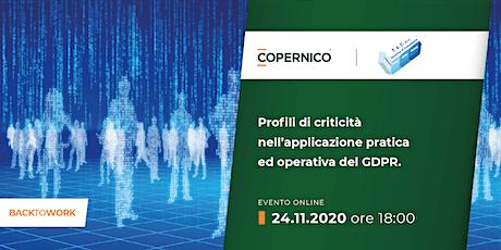 Profili di criticità nell'applicazione pratica ed operativa del GDPR biglietti