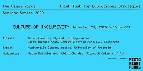 Glass Virus - Seminar Serie 2020 - 2/5 Culture of Inclusivity tickets