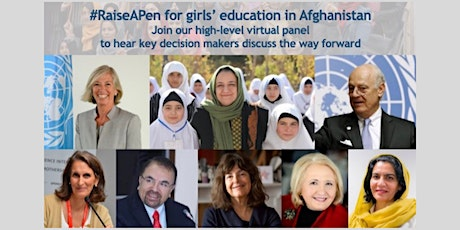 Together with Afghan mothers and girls:  #RaiseAPen for their  education tickets