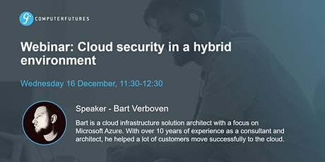 Webinar: Cloud security in a hybrid environment tickets