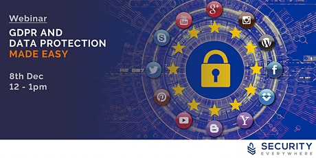 GDPR and Data Protection Made Easy December 2020 tickets