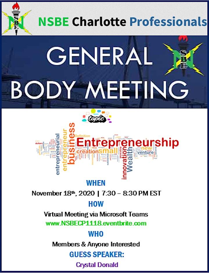 November General Body Meeting image