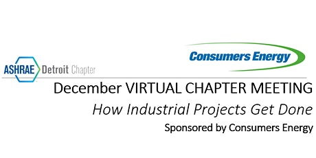 December 1st ASHRAE Virtual Event - Sponsored by Consumers Energy tickets
