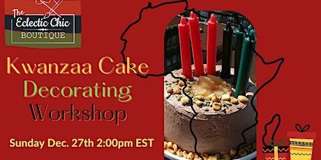Kwanzaa Cake Decorating Virtual Workshop tickets