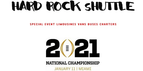 Bus to College Football Playoff Game  - Downtown Miami to Hard Rock Stadium tickets