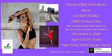FBAAD FREE SATURDAYS Hosts  Lauren Burke's Horton Class! tickets