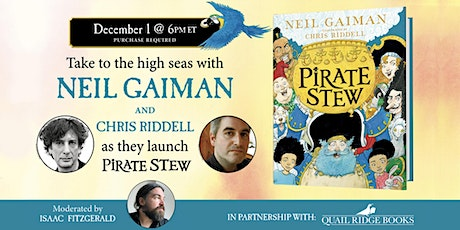 Neil Gaiman and Chris Riddell | PIRATE STEW virtual launch tickets