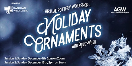 Virtual Pottery Workshop: Holiday Ornaments tickets