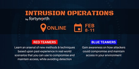 Intrusion Operations(Red Team Training) **ONLINE COURSE** tickets