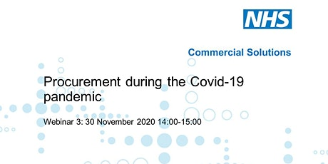 Webinar 3: Procurement during the COVID-19 pandemic tickets