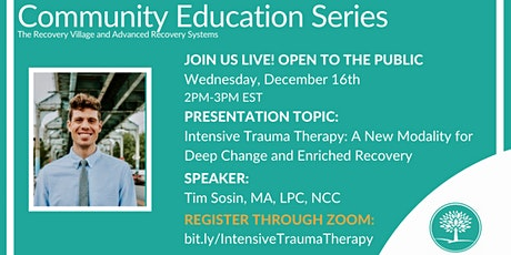 Community Education Series: Intensive Trauma Therapy tickets