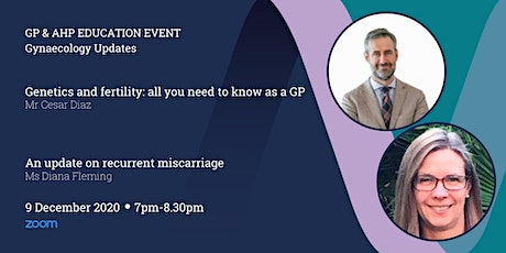 GP & AHP Educational Lecture Via Zoom - Gynaecology Updates tickets