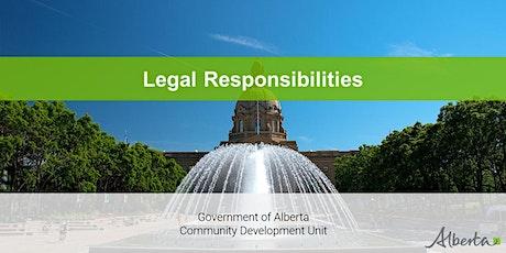 Board Development Program - Legal Responsibilities Webinar tickets