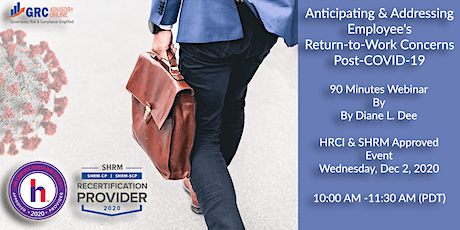 Anticipating and Addressing Employee's Return-to-Work Concerns Post-COVID19 tickets