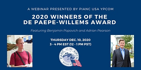 2020 Winners of the De Paepe-Willems  Award - A webinar by PIANC USA YPCom tickets