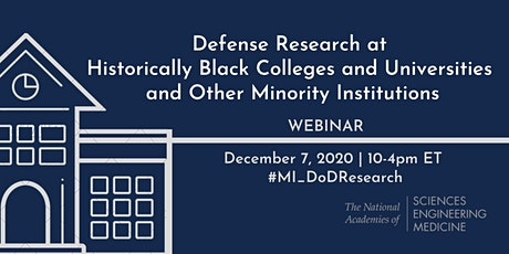 Committee on Defense Research at HBCUs & Other Minority Institutions -Mtg 2 tickets