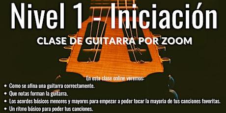 TALLER INICIACION A LA GUITARRA - NIVEL  PRINCIPIANTE entradas