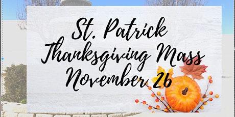 St. Patrick Thanksgiving Mass tickets