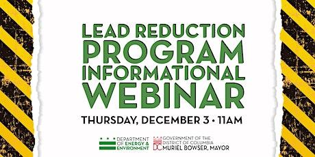 Lead Reduction Program Informational Webinar tickets