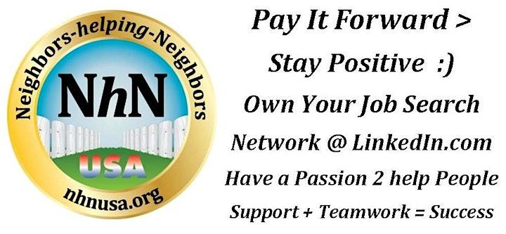 Neighbors-helping-Neighbors on Zoom  Tuesdays at 7pm image