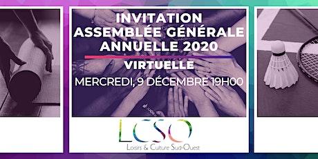 Assembleé Générale Annuelle LCSO 2020 billets