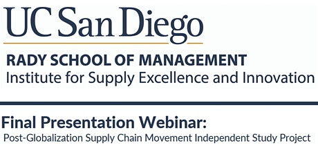 Final Presentation Webinar: Post-Globalization Supply Chain Movement tickets