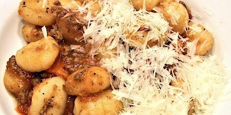 Bellissima Gnocchi Ragu Cheese hands on cooking tickets