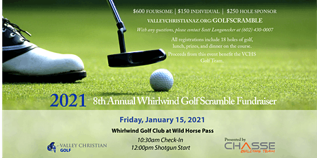 2021 Whirlwind Golf Scramble, presented by Chasse Building Team tickets