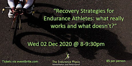 Recovery Strategies for Endurance athletes: what really works? tickets