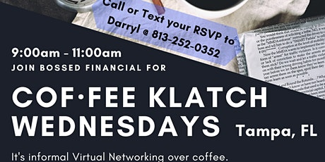Cof·fee Klatsch for Small Businesses (Virtual Networking) - Tampa, FL Tickets