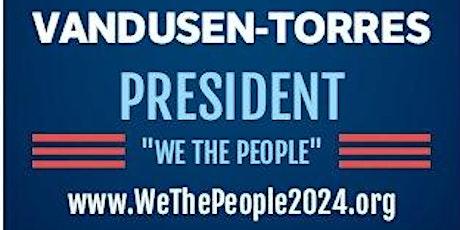 Vandusen-Torres For President Online Rally tickets