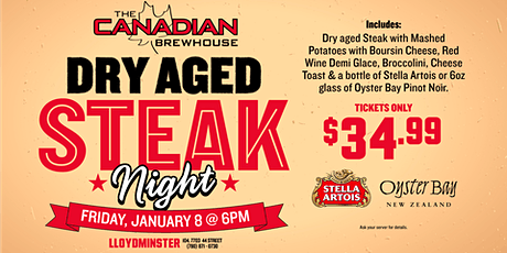 Dry Aged Steak Night (Lloydminster) tickets