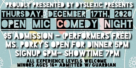 DINNER and AN OPEN MIC COMEDY NIGHT | OPEN SIGN UP | ALL EXP. LEVELS tickets