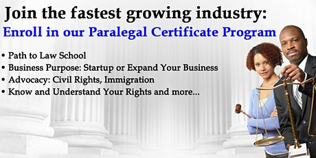 Paralegal Certificate Program-New and Current Paralegals & Pre-Law Students tickets