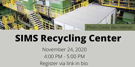 Virtual Group Tour of SIMS Municipal Recycling tickets