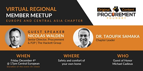 Europe & Central Asia Virtual Member Meetup w/ Guest Speaker Nicolas Walden