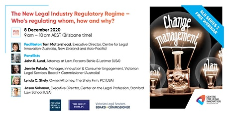 RLB 2: The New Legal Industry Regulatory Regime tickets