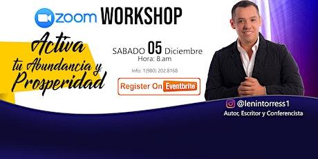 Workshop Activa tu Abundancia y Prosperidad entradas