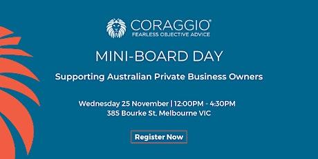 Coraggio Mini-Board Day tickets