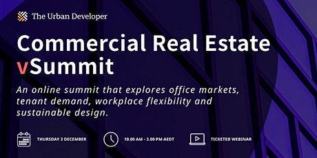 The Urban Developer Commercial Real Estate vSummit tickets