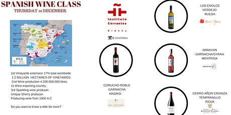 Spanish Wine Class and Tasting tickets