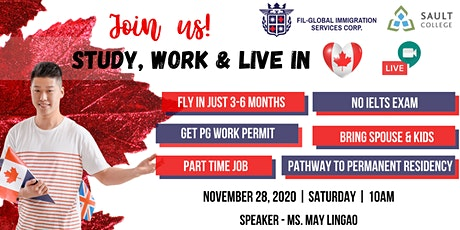 FREE WEBINAR : Study, Work & Live in Canada | Sault College tickets