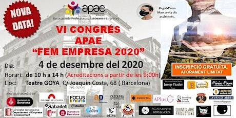NOVA DATA  VI Congrés APAE FEM EMPRESA 2020  + ELEVATOR PICH + REGALOS tickets