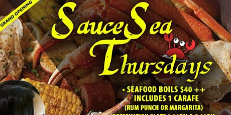 SauceSea Thursdays - Seafood Boil and Happy Hour tickets