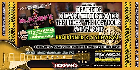 DEATHRIDE | CLEANSE T.DESTROYERS | THE UDDER | THE LOST DOLLS | ANIMAL SOUP tickets
